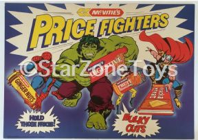 Vintage UK McVities Hulk Spiderman Thor Supermarket Store Display 1979 Marvel
